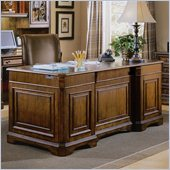 Hooker Furniture Brookhaven Executive Desk with Wood Top