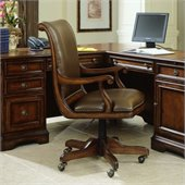 Hooker Furniture Brookhaven Desk Chair in Medium Clear Cherry