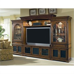 Hooker Furniture Brookhaven Home Theater Group with 65 Inch Console