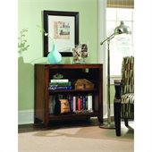 Hooker Furniture Danforth Low Bookcase in Rich Medium Brown