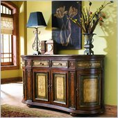 Hooker Furniture Glenhill Two-Tone Four-Door/Four-Drawer Shaped Credenza