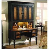Hooker Furniture North Hampton Desk with Hutch in Black Finish