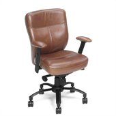 Hooker Furniture Seven Seas Executive Swivel Tilt Chair in Brown Keats