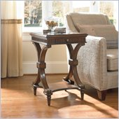 Hooker Furniture Seven Seas Accent Table with Zebra Stone Inlay
