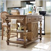 Hooker Furniture Primrose Hill Kitchen Island in Wheat Field