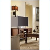 Hooker Furniture Primrose Hill 60in Lattice TV Stand in Villa Brown
