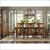 Hooker Furniture Primrose Hill Dining Table with Leaves in Villa Brown