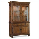 Hooker Furniture Primrose Hill Two-Door China Hutch in Villa Brown