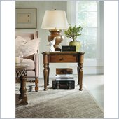 Hooker Furniture Primrose Hill One-Drawer Lamp Table in Villa Brown