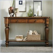 Hooker Furniture Primrose Hill Two-Drawer Sofa Table in Villa Brown