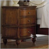 Hooker Furniture Primrose Hill Three Drawer Nightstand in Villa Brown