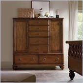 Hooker Furniture Primrose Hill Two-Door Seven-Drawer Door Chest in Villa Brown