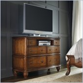 Hooker Furniture Primrose Hill Six-Drawer Media Dresser in Villa Brown
