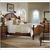 Hooker Furniture Primrose Hill Panel Bed in Villa Brown Finish