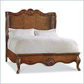 Hooker Furniture Primrose Hill Cane Shelter Bed in Villa Brown