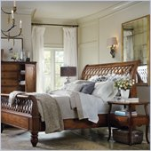 Hooker Furniture Primrose Hill Lattice Sleigh Bed in Villa Brown