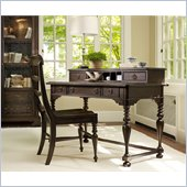 Hooker Furniture Harbour Pointe Writing Desk and Hutch in Bungalow