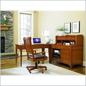 Hooker Furniture Abbott Place 4 Piece Office Set in Natural Cherry
