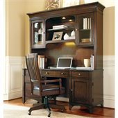 Hooker Furniture Abbott Place Computer Credenza and Hutch in Cherry