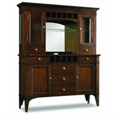 Hooker Furniture Abbott Place Buffet and Hutch in Warm Cherry Finish