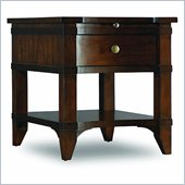 Hooker Furniture Abbott Place End Table in Warm Cherry Finish