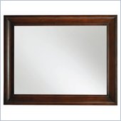 Hooker Furniture Abbott Place Landscape Mirror in Warm Cherry Finish