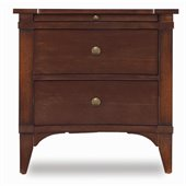 Hooker Furniture Abbott Place Two-Drawer Nightstand in Warm Cherry