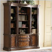 Hooker Furniture Beladora Bookcase in Caramel Finish and Gold Tipping