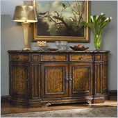 Hooker Furniture Beladora 84in Credenza in Caramel with Gold Tipping