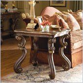 Hooker Furniture Beladora End Table in Caramel with Gold Tipping