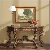 Hooker Furniture Beladora Sofa Table in Caramel with Gold Tipping