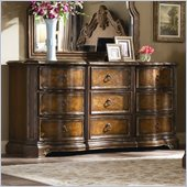 Hooker Furniture Beladora Dresser in Caramel with Gold Tipping
