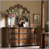 Hooker Furniture Beladora Dresser and Mirror Set in Caramel