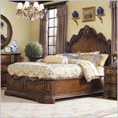 Hooker Furniture Beladora Platform Bed in Caramel with Gold Tipping