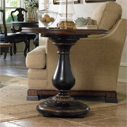 Hooker Furniture Grandover Round Pedestal End Table