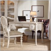Hooker Furniture Primrose Hill Oval Writing Desk in Trellis White