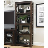 Hooker Furniture Kinsey Etagere Pier in Walnut