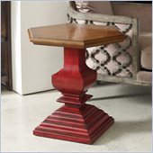Hooker Furniture Seven Seas Hexagonal Accent Pedestal Table