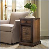 Hooker Furniture Seven Seas Lattice Leather Chairside Chest