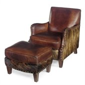 Hooker Furniture Seven Seas Club Chair with Ottoman in Ianelli Leather
