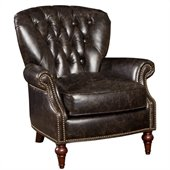 Hooker Furniture Seven Seas Club Chair in Pullman Coach Leather