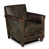 Hooker Furniture Seven Seas Club Chair in Old Saddle Fudge Leather