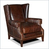 Hooker Furniture Seven Seas Club Chair in Voyager Freedom Leather