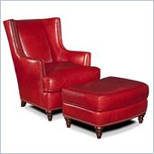 Hooker Furniture Seven Seas Club Chair with Ottoman in Coral Reef