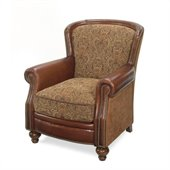 Hooker Furniture Seven Seas Club Chair in Brindisi Leather and Fabric