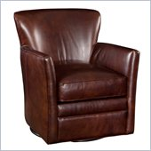 Hooker Furniture Seven Seas Swivel Club Chair in Halona Native Leather