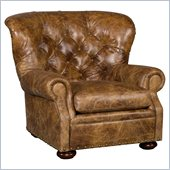 Hooker Furniture Seven Seas Club Chair in Galatia Bruno Leather