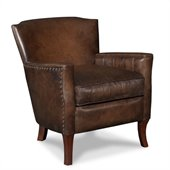 Hooker Furniture Seven Seas Club Chair in Inscription Art Leather
