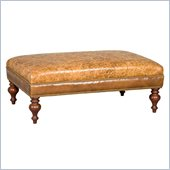 Hooker Furniture Seven Seas Cocktail Ottoman in Chimera Mirage Leather