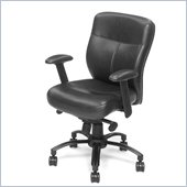 Hooker Furniture Seven Seas Executive Swivel Tilt Chair in Black